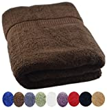 "Utopia Towels Extra Large 100% Cotton Luxury Bath Sheet, Easy Care, Ringspun Cotton for Maximum Softness and Absorbency - Dark Brown (35"" x 70"")"