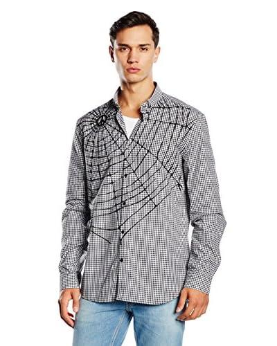 Love Moschino Camisa Hombre Blanco / Negro