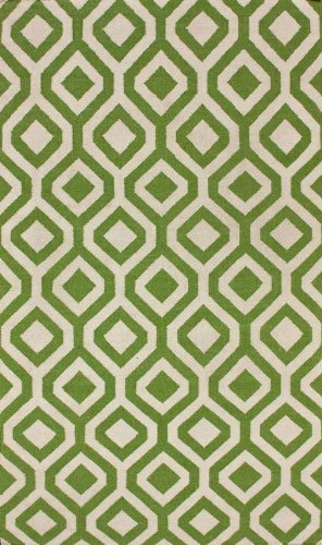 nuLOOM VCDH04C-508 Moscow Collection 100-Percent Wool Area Rug, 5-Feet by 8-Feet, Geometric, Green - 1