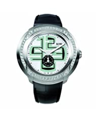 RSW Men's 9130.BS.L1.25.F1 Volante Diamond Stainless Steel Luminous Black Leather Watch