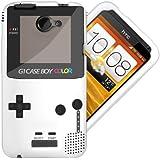 HTC One X Case / Cover / Custodia / Skin TPU Gel - Disegno Bianco Retro Gameboy