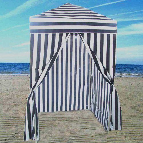 Striped Portable Changing Cabana Tent Patio Beach Pool & work tent: Striped Portable Changing Cabana Tent Patio Beach Pool