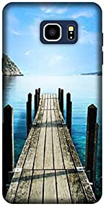 The Racoon Lean printed designer hard back mobile phone case cover for Samsung Galaxy Note 5. (Sea)