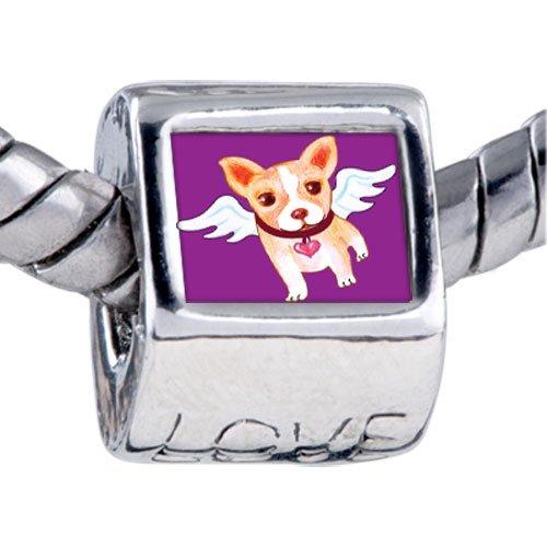 Pugster Bead Chihuahua Dog Heaven Beads Fits Pandora Bracelet