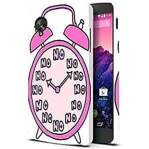 Theskinmantra Clock No No Back Cover for LG Google Nexus 5