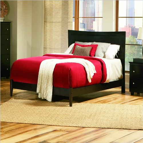 Full Atlantic Furniture Miami Modern Platform Bed with Open Footrail in Espresso