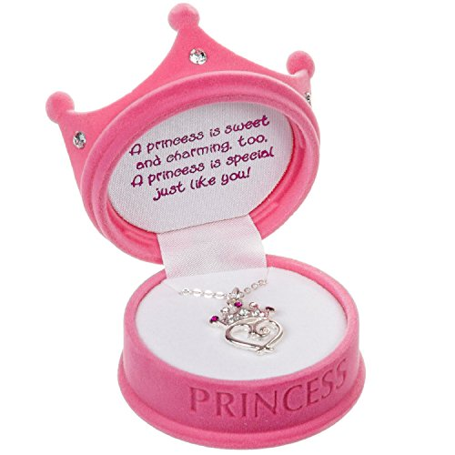 DM Merchandising - Pink Petite Princess Crown Necklace in Figural Gift Box - 2 Pack, Pink