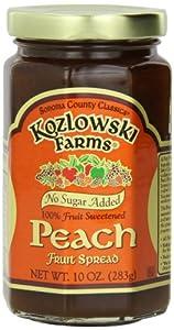 Kozlowski Farms Fruit Spread, Peach, 10-Ounce (Pack of 6)