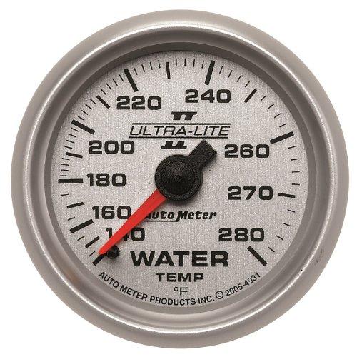 "Auto Meter 4931 Ultra-Lite Ii 2-1/16"" 140-280 Degree F Mechanical Water Temperature Gauge"
