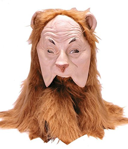 Wizard Of Oz Cowardly Lion Animal Cosplay Latex Adult Halloween Costume Mask