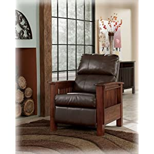 Ashley Furniture Santa Fe Bark High Leg Recliner 1990026 Review Beds Beyond