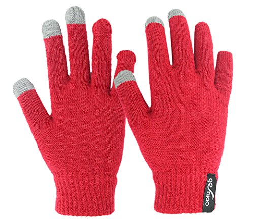 Touch Screen Gloves Red 6 M