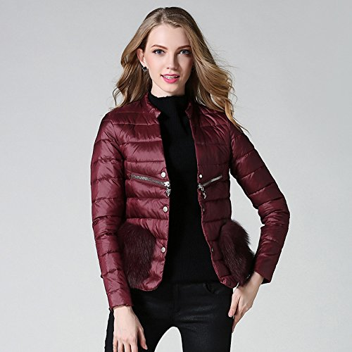 Donne esclusiva breve down jacket,rosso,M