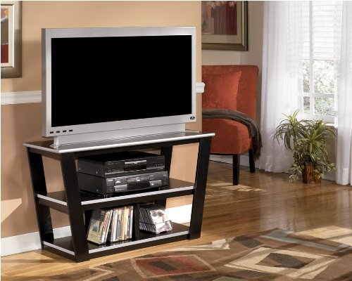 Cheap Contemporary Black And Silver TV Stand (W120-10)