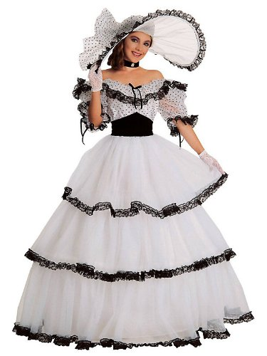 Black & White Southern Belle Costume for Women