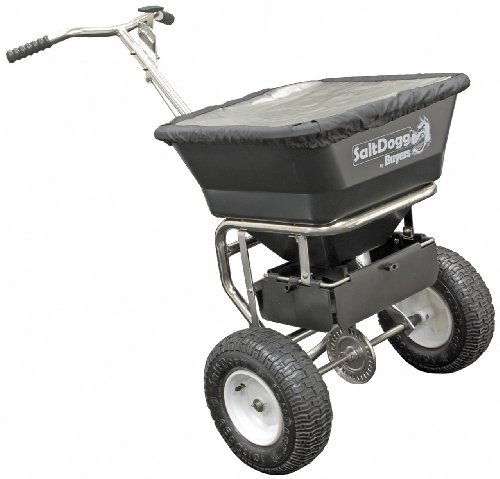 Buy Buyers SaltDogg WB200B 1.5 Cubic Foot/100-Pound Capacity Poly Walk Behind Snow Broadcast Spreade...