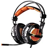 Gw Sades Sa928 Pro Surround Sound Stereo Wired Pc Laptop Gaming Headset Over Ear Headband Headphones With Microphone...