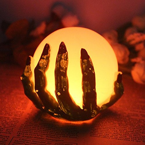 KCRIUS(TM) Halloween Ghost Hand LED Color Changing Flameless Candle With Cell Battery