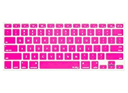Kuzy - PINK Keyboard Cover Silicone Skin for MacBook Pro 13\