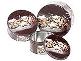 Set de 3 Boîtes à gâteaux biscuits de Noël ronde en métal Gigogne s'imbriquent comme des poupées russes, choisir:946218 marron pƒtisserie...