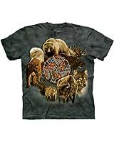 The Mountain Adulte Cercle Des Esprits D'Animaux T Shirt