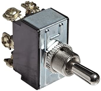 Morris Products 70300 Toggle Switch, Momentary, DPDT (On)-Off-(On)