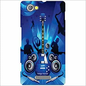 Design Worlds - Sony Xperia M Designer Back Cover Case - Multicolor Phone C...