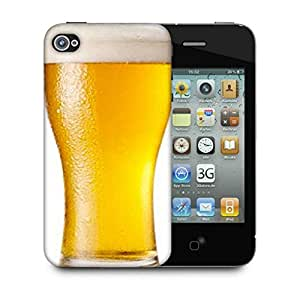 Snoogg Beer Filled In Glass Designer Protective Back Case Cover For IPHONE 4