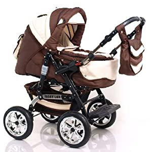 adbor kombikinderwagen baby lux in 56 farben lieferbar price kinderwagen. Black Bedroom Furniture Sets. Home Design Ideas