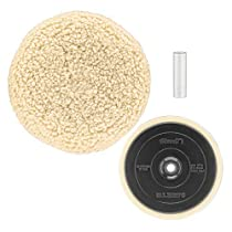DEWALT DW4985CL Wool Buffing Pad and Backing Pad Kit, 7-Inch