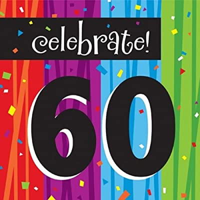 Creative Converting Milestone Celebrations Luncheon Napkins, 16-Count, Celebrate 60