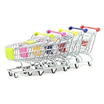 Zeroyoyo Pet Parrot Bird Play Stand Supermarket Shopping Cart Funny Kids Toys Random Color 1pc