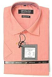 Ring Bell Men's Formal Shirt (ST005_Orange_40)