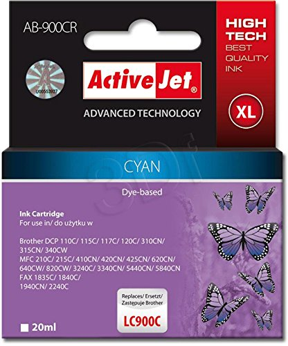 ActiveJet EXPACJABR0014 Tinte AB-900CR Refill für Brother LC900C, cyan