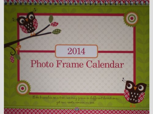 : 2014 Whimsical Themed Photo Frame Mini Wall Calendar
