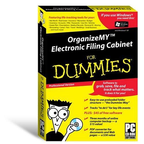 Organizemy Electronic Filing En Cabinet for Dummies - Smbx Vista/Xp