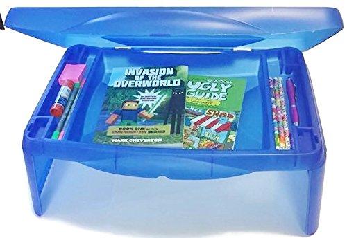 Kids Folding Lap Desk with Storage - Blue - Durable Lightweight Convertible Computer Childrens Desks