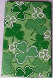 Vinyl Tablecloth with Shamrocks! Rich Green Shades of Shamrocks - 60 Inches Round- Great for St. Patrick s Day.