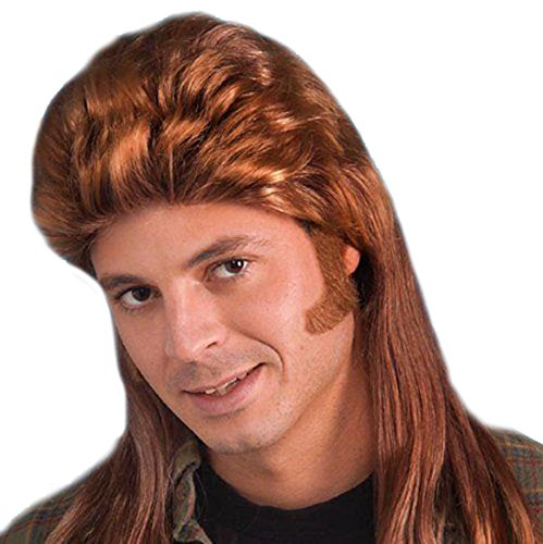 80's Long Dirt Blonde Mullet Wig Costume Accessory