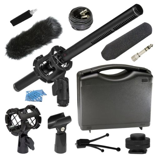 Professional Deluxe Advanced Dslr Microphone Kit For Nikon D3 D3S D3X D4 D60 D90 D300S D600 D610 D700 D800 D800E D3000 D3100 D3200 D3300 D5000 D5100 D5200 D5300 D7000 D7100 Df 1 Aw1 J1 J2 J3 S1 V1 V2