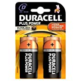Duracell MN1300 Plus Power D Size Batteries--Pack of 2