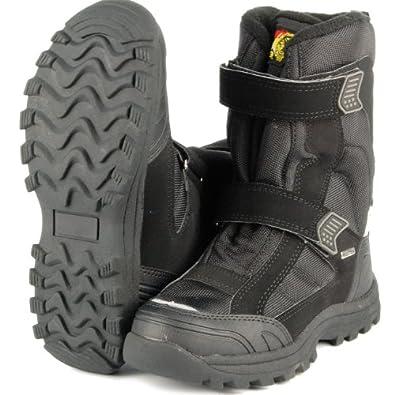 WOOLF SHOES Unisex Outdoor Snowboots, Thermo Stiefel, TEX Membrane, schwarz , Größe:43