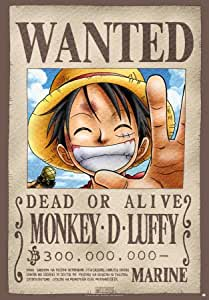 ONE PIECE - Poster Wanted Luffy (98x68) roulé filmé