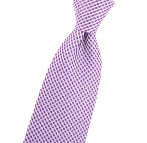 LSU Tigers Purple with wisteria lavender large pin check men's ties - By Jon vanDyk at Amazon.com