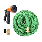 Ohuhu® 50 ft Expandable Garden hose With Spray Nozzle, Green