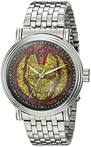 Marvel Iron Man Men's W002539 Iron Man Analog Display Analog Quartz Silver Watch
