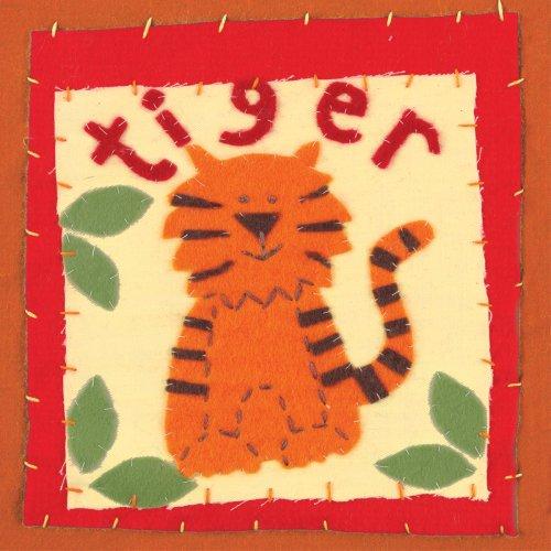 "Art 4 Kids ""Patchwork Tiger"" Mounted Art Print, 18""X18"" front-739395"