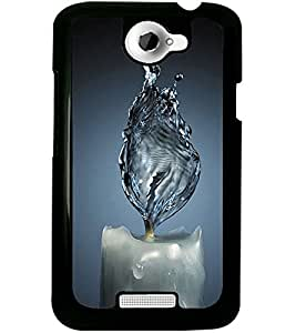 ColourCraft Creative Candle Design Back Case Cover for HTC ONE X