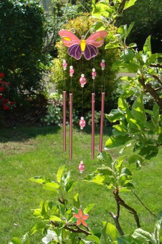 Purple and Pink Butterfly Wind Chime
