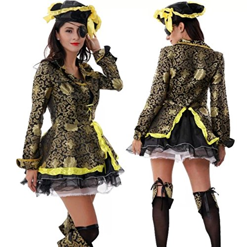 DoLoveY Pirate Costumes Party Game Outfit Hallowen